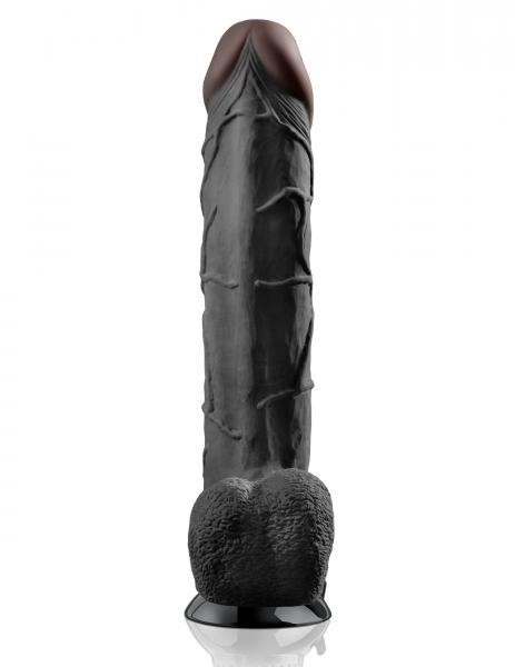 Real Feel Deluxe No 12 Wallbanger Vibrating Dildo 12 Inch Black